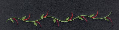 "Embroidery Design: Fruit of the Spirit Vine6.39"" x 1.06"""