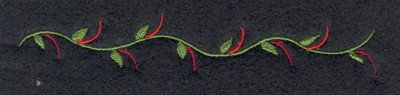 "Embroidery Design: Fruit of the Spirit Vine (small)4.79"" x 0.80"""