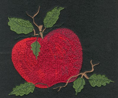 "Embroidery Design: Fruit of the Spirit Apple (large)5.86"" x 5.17"""