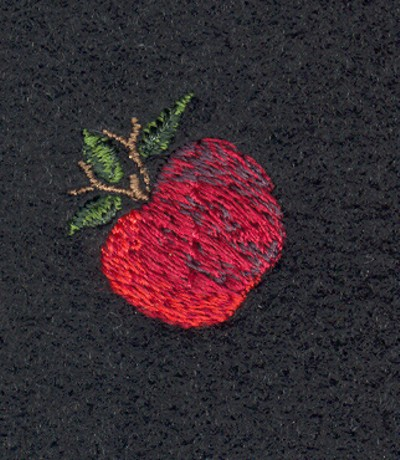 "Embroidery Design: Fruit of the Spirit Apple 2 (small)0.86"" x 0.93"""