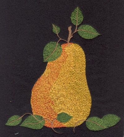 "Embroidery Design: Fruit of the Spirit Pear (large)5.79"" x 6.46"""