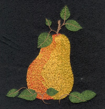 "Embroidery Design: Fruit of the Spirit Pear (medium)4.34"" x 4.85"""