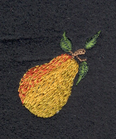 "Embroidery Design: Fruit of the Spirit Pear 21.38"" x 1.39"""