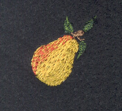 "Embroidery Design: Fruit of the Spirit Pear 2 (small)1.04"" x 1.04"""
