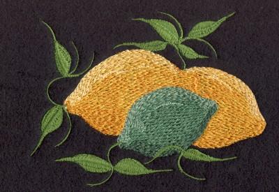 "Embroidery Design: Fruit of  the Spirit Lemons6.04"" x 4.37"""
