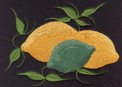 "Embroidery Design: Fruit of the Spirit Lemons (small)4.54"" x 3.28"""