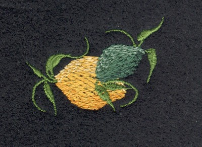 "Embroidery Design: Fruit of the Spirit Lemon1.84"" x 1.26"""