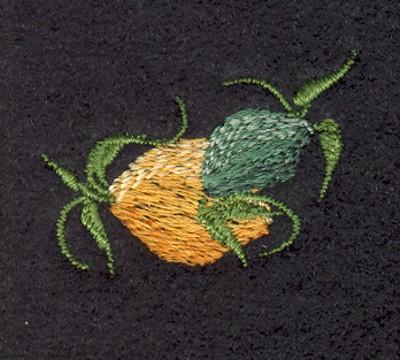 "Embroidery Design: Fruit of the Spirit Lemon (small)1.38"" x 0.95"""