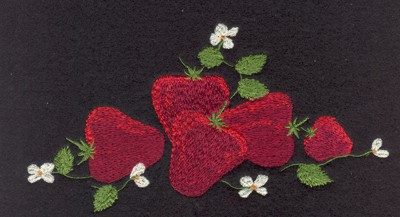 "Embroidery Design: Fruit of the Spirit Strawberries6.90"" x 3.46"""