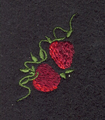 "Embroidery Design: Fruit of the Spirit Strawberries 21.10"" x 1.51"""