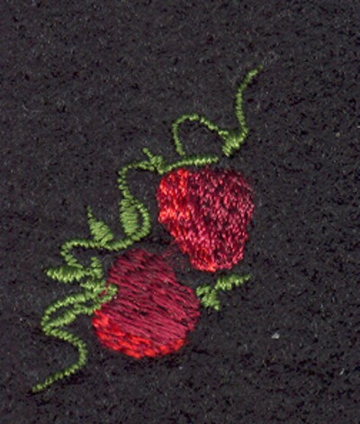 "Embroidery Design: Fruit of the Spirit Strawberries 2 (small)0.83"" x 1.14"""