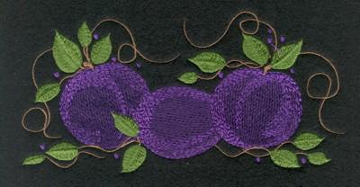 "Embroidery Design: Fruit of the Spirit Plum6.58"" x 3.38"""