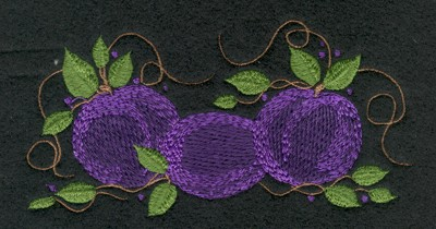 "Embroidery Design: Fruit of the Spirit Plum (small)4.93"" x 2.52"""