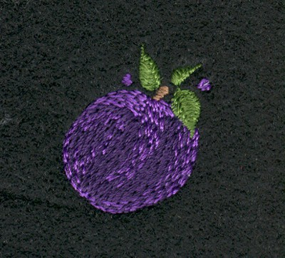 "Embroidery Design: Fruit of the Spirit Plum 21.08"" x 1.23"""