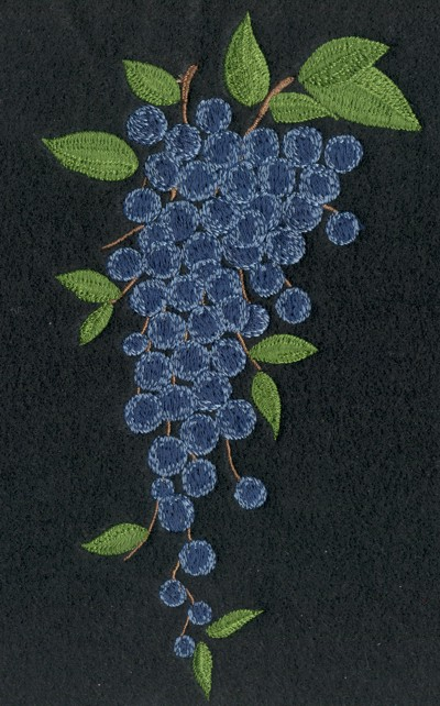 "Embroidery Design: Fruit of the Spirit Grapes3.73"" x 6.82"""