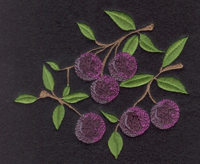 "Embroidery Design: Fruit of the Spirit Purple Grapes5.19"" x 4.56"""