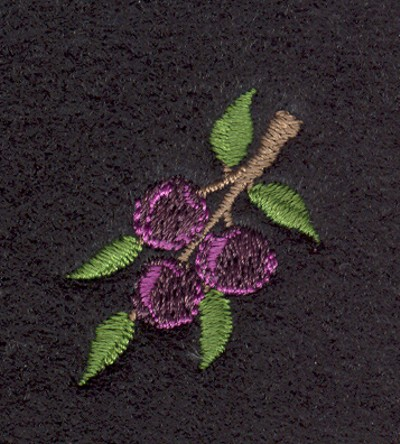 "Embroidery Design: Fruit of the Spirit Purple Grapes 21.12"" x 1.34"""