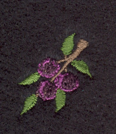 """Embroidery Design: Fruit of the Spirit Purple Grapes 2 (small)0.85"""" x 1.01"""""""