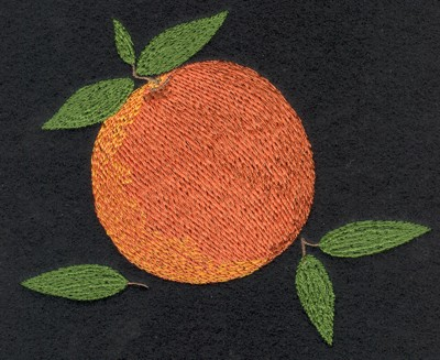 "Embroidery Design: Fruit of the Spirit Peach5.15"" x 4.34"""