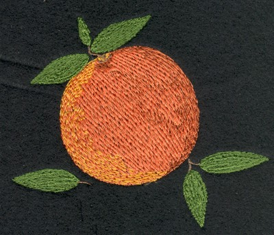 "Embroidery Design: Fruit of the Spirit Peach (small)3.88"" x 3.24"""