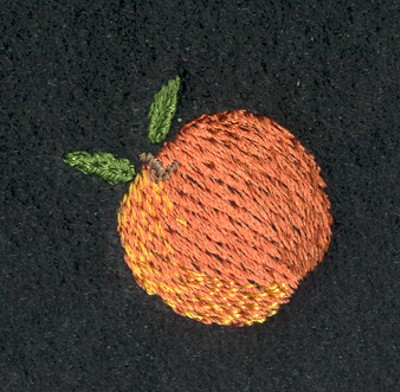 "Embroidery Design: Fruit of the Spirit Peach 21.11"" x 1.09"""