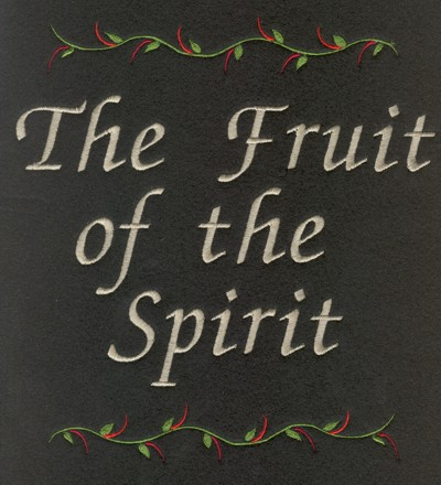 "Embroidery Design: The Fruit of the Spirit7.78"" x 8.26"""