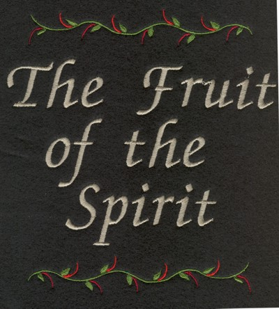 "Embroidery Design: The Fruit of the Spirit (small)5.84"" x 6.20"""