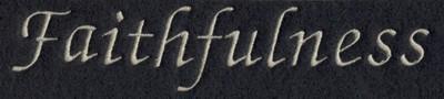 "Embroidery Design: Fruit of the Spirit - Faithfulness (small)6.15"" x 1.28"""