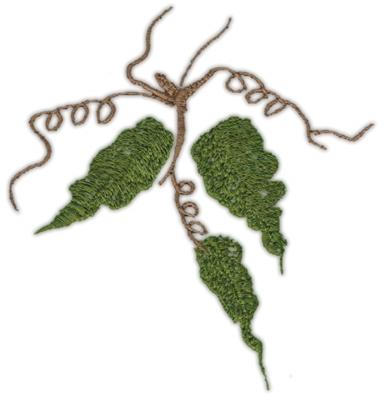 "Embroidery Design: Vine (large)4.20"" x 4.39"""