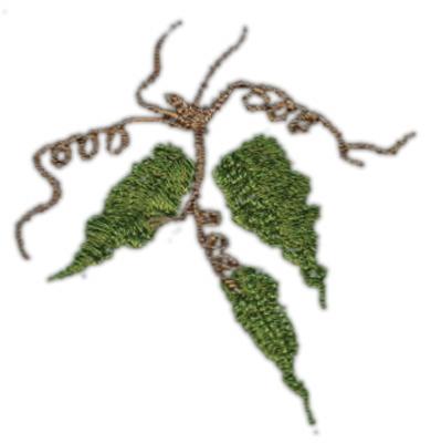 """Embroidery Design: Grape Vine (small)2.00"""" x 2.09"""""""