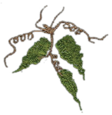 "Embroidery Design: Grape Vine (medium)3.00"" x 3.14"""