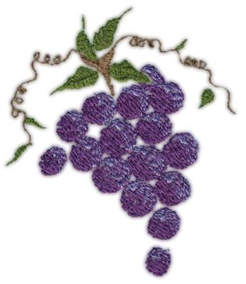 "Embroidery Design: Grapes (medium)3.40"" x 3.99"""
