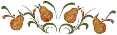 "Embroidery Design: Pears deco 38.79"" x 2.52"""