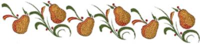 "Embroidery Design: Pears Border11.62"" x 2.14"""