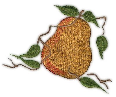 "Embroidery Design: Pear3.15"" x 2.68"""