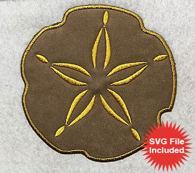 Embroidery Design: Sand Dollar Applique 5.00w X 5.04h