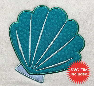 Embroidery Design: Shell 1 Applique 4.97w X 5.02h
