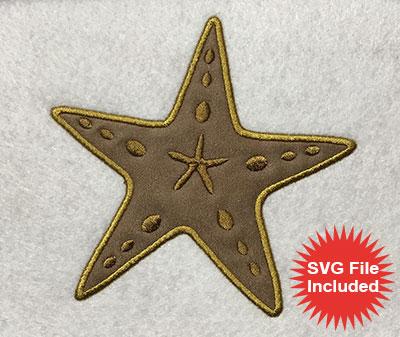 Embroidery Design: Starfish Applique 5.09w X 5.01h