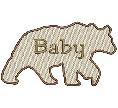 Embroidery Design: Baby Bear Lg 8.66w X 4.86h