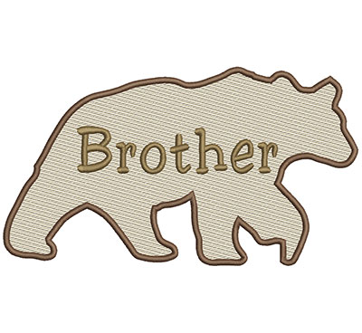 Embroidery Design: Brother Bear Lg 8.66w X 4.86h