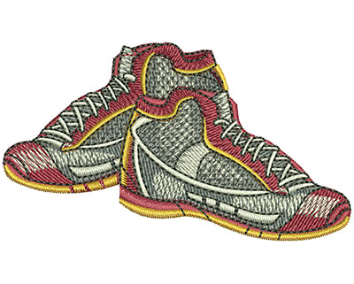 Embroidery Design: Basketball Shoes Sm 3w X 1.71h