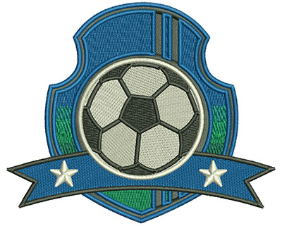Embroidery Design: Soccer Ball Crest Lg 4.49w X 3.72h