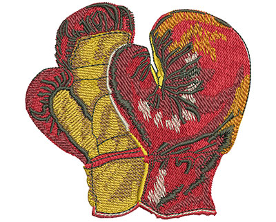 Embroidery Design: Pair Of Boxing Gloves Med 3.66w X 3.53h