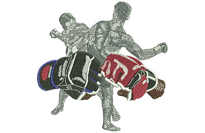 Embroidery Design: MMA Fists Lg 4.48w X 4.46h