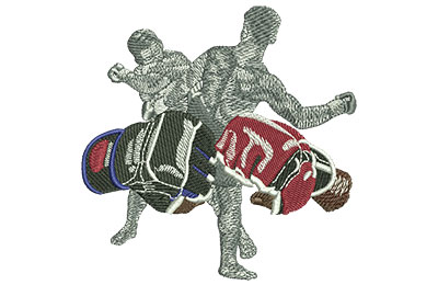 Embroidery Design: MMA Fists Med 3.98w X 3.95h