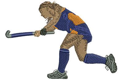 Embroidery Design: Field Hockey Lg 4.01w X 2.79h