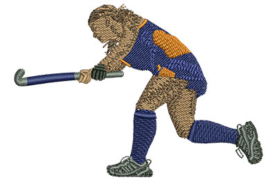 Embroidery Design: Field Hockey Med 3.51w X 2.44h