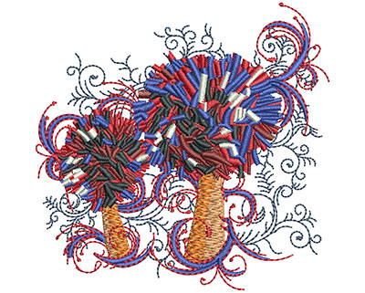 Embroidery Design: Pom Pom Swirls Sm 3.00w X 2.94h