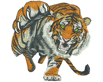 Embroidery Design: Tiger Prowl Lg 5.52w X 5.56h