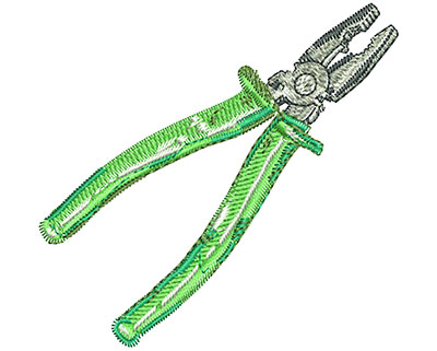 Embroidery Design: Pliers Lg 3.10w X 2.97h